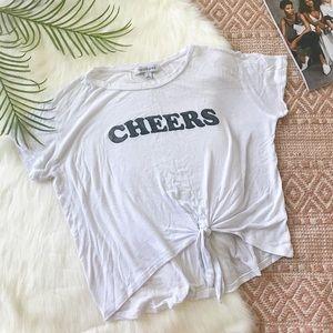 "DayDreamer   Super Soft ""Cheers"" Side Tie Shirt S"